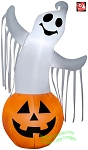 3 1/2' Gemmy Airblown Inflatable Halloween Ghost In Pumpkin