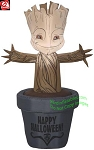3 1/2' Gemmy Airblown Inflatable Baby Groot In Halloween Pot