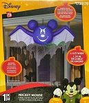 4 1/2' Gemmy Airblown Inflatable Disney Hanging Mickey Mouse as Bat