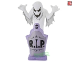 7' Gemmy Airblown Inflatable Halloween Kaleidoscope Ghost on Tombstone