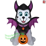 4' Gemmy Airblown Inflatable Paw Patrol Marshall Dressed As A Bat
