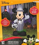 3 1/2' Gemmy Airblown Inflatable Disney Mickey Mouse in Gray Suit