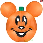 9 1/2' Gemmy Airblown Inflatable Halloween Disney Mickey Mouse Pumpkin Jack-O-Lantern