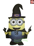 3 1/2' Airblown Inflatable Minion's Dave as Witch
