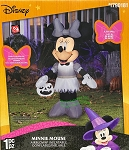 3 1/2' Gemmy Airblown Inflatable Minnie Mouse in Gray Outfit