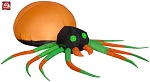 5' Gemmy Airblown Inflatable Orange & Green Spider