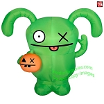 5' Gemmy Airblown Inflatable Ugly Dolls Ox Holding A Pumpkin