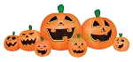 8 1/2' Air Blown Inflatable Pumpkin Patch w/ 7 Jack-O-Lantern's