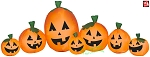 9' Gemmy Airblown Inflatable Harvest Halloween Pumpkin Collection Scene
