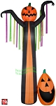 12' Gemmy Airblown Inflatable Giant Fire & Ice Frightening Pumpkin Reaper w/ Streamers
