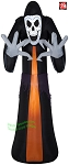 9' Airblown Inflatable Skeleton Reaper w/ Big Hands