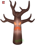 7' Gemmy Airblown Inflatable Fog Effect Haunted Brown Tree