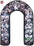 8' Gemmy Airblown Inflatable Photorealistic Skulls Archway