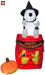6' Gemmy Airblown Inflatable Snoopy Sitting On Doghouse w/