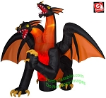11' Airblown Animated Inflatable Projection Two-Headed Dragon