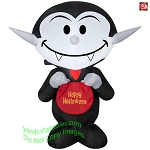 3 1/2' Gemmy Airblown Inflatable Vampire Holding Candy Bag