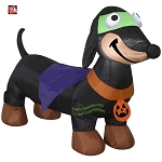 4' Gemmy Airblown Inflatable Weiner Dog in Halloween Costume