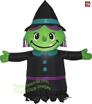 3 1/2' Gemmy Airblown Inflatable Friendly Halloween Witch
