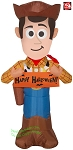 3 1/2' Gemmy Airblown Inflatable Toy Story 4 Sheriff Woody w/ Halloween Banner