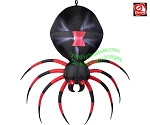 7' Gemmy Airblown Inflatable Hanging Black Widow Spider