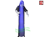 12' Gemmy Airblown Inflatable Short Circuit Frightened Ghost With BLACK Overlay