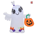 3 1/2' Gemmy Airblown Inflatable Halloween Ghost Girl w/