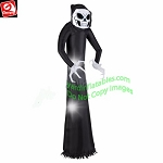 7' Gemmy Airblown Inflatable Wicked Reaper w/ Skeleton Face