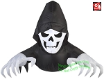 3' Gemmy Airblown Inflatable GRIM REAPER Window Creeper