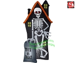 8' Gemmy Airblown Inflatable Projection Points Of Light Skeleton Haunted House