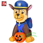 3' Gemmy Airblown Inflatable Paw Patrol Chase w/ Pumpkin