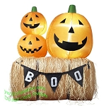 5 1/2' Inflatable Haystack w/ Pumpkins &
