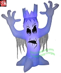 12' Gemmy Airblown Inflatable Halloween Short Circuit Scary Tree