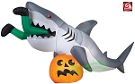 9' Gemmy Airblown Inflatable Animated Shark Attack w/ Pumpkin