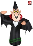 3 1/2' Gemmy Airblown Inflatable Skinny Vampire