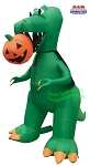 7' Air Blown Inflatable T-Rex Biting Pumpkin Jack-O-Lantern