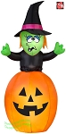 5 1/2' Gemmy Airblown Inflatable Witch in Pumpkin