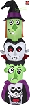 7' Gemmy Airblown Inflatable Halloween Flashing Character Totem Pole