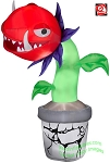 7' Gemmy Airblown Inflatable Man Eating Venus Fly Trap Plant