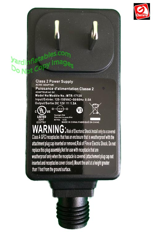 Gemmy Replacement 1 5a Adapter Only