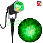 Outdoor Lightshow Spot Light - KALEIDOSCOPE Fire & Ice - GREEN