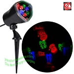 LED Lightshow Projection WHIRL-A-MOTION Santa, Presents, Merry Christmas