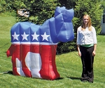Democratic Party Inflatable Donkey
