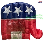 5 1/2' Air Blown Inflatable Republican Party GOP Election Inflatable Patriotic Elephant