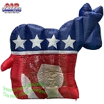 6' Air Blown Inflatable Democratic Party Inflatable Donkey