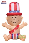 5 1/2' Air Blown Inflatable Patriotic New Year's Baby