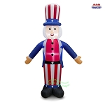 8' Air Blown Inflatable Patriotic Uncle Sam