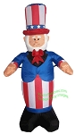 4' Air Blown Inflatable Uncle Sam Wearing Top Hat & Red Bow Tie