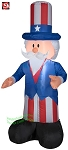 4' Gemmy Airblown Inflatable 4th of July Patriotic Uncle Sam
