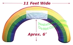 11' Inflatable GIANT Rainbow Arch
