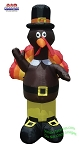 7' Air Blown Inflatable Standing Turkey Dressed As Pilgrim